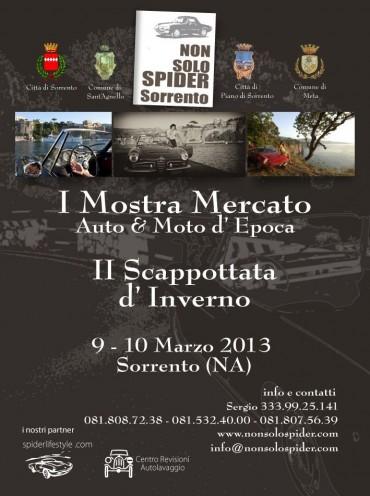"""""""Non solo spider"""" la mostra-mercato di auto d'epoca in programma a Sant'Agnello"""