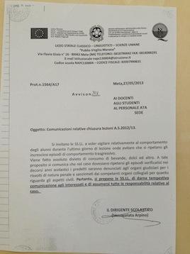 """Rischio denuncia al Liceo classico se si portano """"bevande e dolci"""" l'ultimo giorno di scuola"""