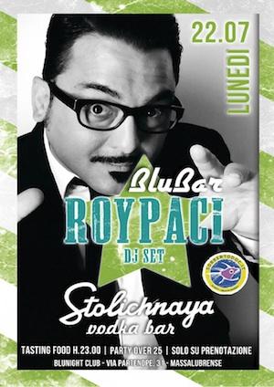 """Il lunedì è al """"Blu Bar"""" con Roy Paci e lo """"Stolichnaya Party"""""""