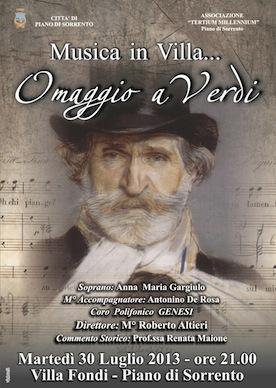 "Bicentenario della nascita di Giuseppe Verdi, l'associazione ""Tertium Millennium"" omaggia il maestro"