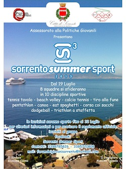"Tutto pronto per la ""Summer Sport"" 2013"