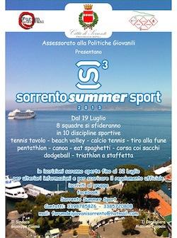 """Tutto pronto per la """"Summer Sport"""" 2013"""
