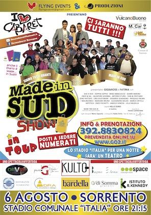 """""""Made in Sud tour"""" a Sorrento, è iniziata la prevendita per l'evento del 6 agosto"""
