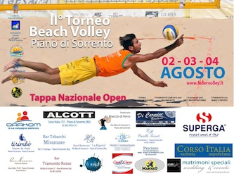 Tutto pronto per la seconda edizione del torneo di beach volley a Piano di Sorrento, montepremi 1.500 euro