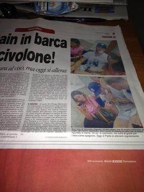 Gli scatti di SorrentoPress sulla prima pagina del Corriere dello Sport