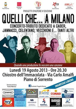 """""""Quelli che…a Milano"""", tributo ai grandi della musica che sono partiti dal capoluogo lombardo"""