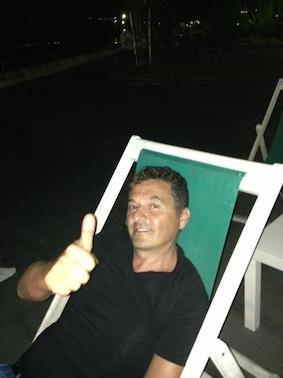 Teo Mammuccari al Porto di Sorrento