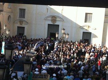 Lacrime e commozione ai funerali di Vittorio Marcia