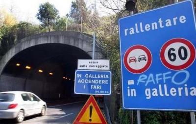 La prossima settimana chiusure notturne per le gallerie di Privati e Varano