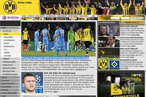 """Il sito del Dortmund: """"Sconfitti 2 a 1, dramma a Napoli"""""""