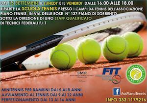 Tennis in penisola, a Piano riapre la scuola APT