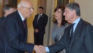 """Gianluigi Aponte riceve dal Presidente della Repubblica l'insegna di Cavaliere """"Al Merito del Lavoro"""""""