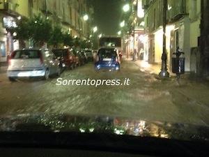 Maltempo: a Sorrento oltre 90mila euro di danni e cresce la paura per una nuova perturbazione