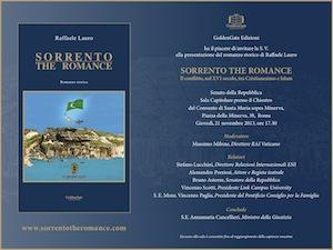 """Raffaele Lauro il 21 novembre presenterà a Roma il suo ultimo capolavoro: """"Sorrento the romance"""""""