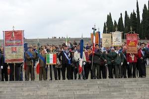 Cerimonia di commemorazione dei caduti del primo conflitto mondiale al Sacrario Militare di Redipiuglia