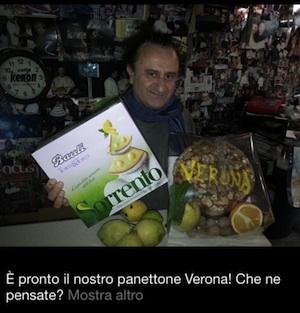 """La provocazione di Antonio Cafiero: """"é pronto il nostro panettone Verona! Che ne pensate?"""""""