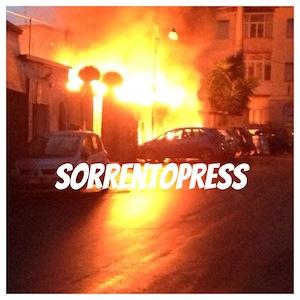 San Martino in fiamme, paura tra i residenti della zona