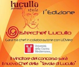 """""""MisterChef Lucullo"""", una sfida in cucina per assegnare un contratto da chef"""