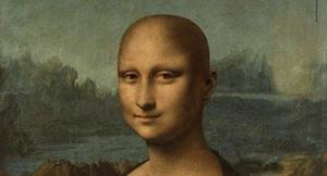 """Una """"Gioconda"""" senza capelli e malata di cancro come immagine della nuova campagna contro i tumori"""