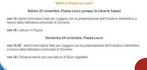 """""""Nati per leggere"""": stand in piazza Lauro per la settimana dei diritti dei bambini"""