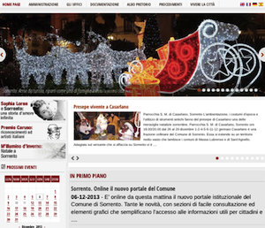 Sorrento, online il nuovo portale del Comune