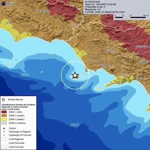 Questo pomeriggio lieve scossa di terremoto a Ischia