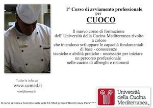Chef, a Sorrento un corso organizzato all'Università della Cucina Mediterranea