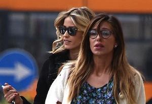Belen ed Elena Santarelli a pranzo insieme a Milano