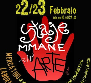 """Staje mmane all'arte"" l'evento in programma al social open space di Castellammare"
