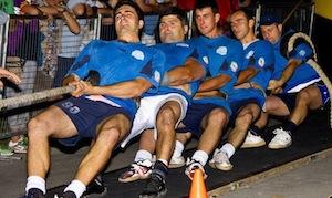 La squadra di tiro alla fune di Massa Lubrense pronta per i mondiali
