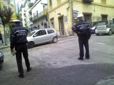 Un team della polizia municipale della penisola sorrentina