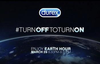 Durex accende la passione durante l'Earth hour