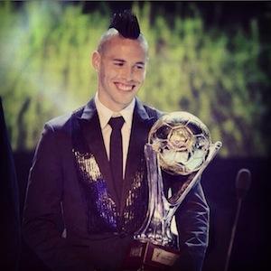 Marek Hamsik è stato votato per la terza volta miglior calciatore slovacco