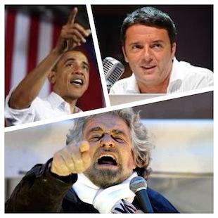 Obama - Renzi -Grillo