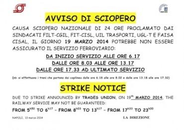 Domani giornata nera per il trasporto pubblico, previsti pesanti disagi a causa di uno sciopero nazionale