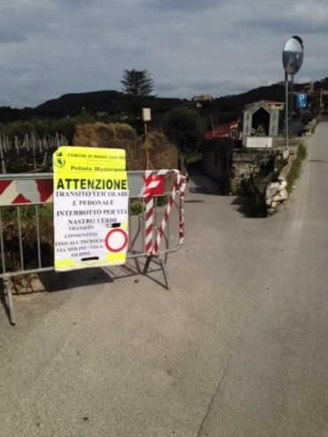 Chiusa via Arolella, nuovi disagi nei collegamenti tra Sorrento e Massa Lubrense