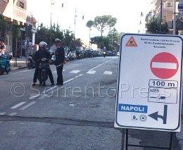 Lavori in via degli Aranci: è caos traffico nel centro di Sorrento