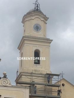 Completato il restauro del campanile della chiesa di Massa Lubrense