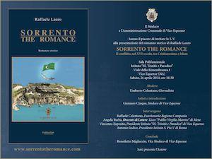 """Domani si chiude a Vico Equense il ciclo di presentazioni in penisola di """"Sorrento the Romance"""""""