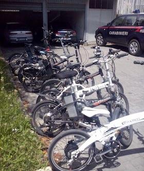 Ritrovate a Vico Equense diverse bici rubate in tutta la penisola, 6 denunciati