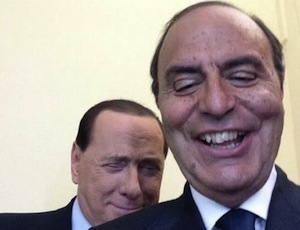 Il selfie di Vespa e Berlusconi