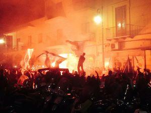 Sorrento e la Coppa Italia, la notte della festa silenziosa