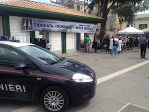 """In piazza Veniero la """"Giornata mondiale senza fumo"""""""