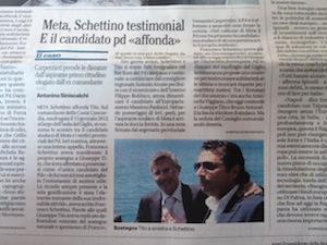 Schettino con Tito per la poltrona di sindaco: l'Italia parla di loro