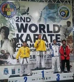 Medaglia di bronzo per il nostro Amitrano ai mondiali di karate in Brasile