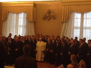 Fiorentina e Napoli in visita da Papa Francesco