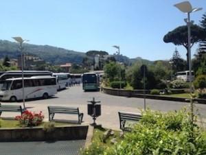 Lettori di targa al parcheggio Lauro di Sorrento contro i furbetti