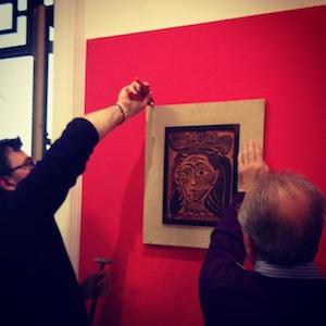 Picasso a Sorrento: on line le foto del backstage della mostra -Guarda fotogallery-