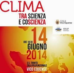 """""""Clima, tra scienza e coscienza"""" l'incontro in programma a Vico Equense"""