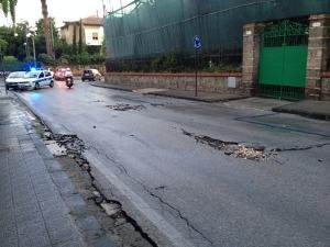 Maltempo, paura a Sant'Agnello: viale dei Pini off limits -fotogallery-